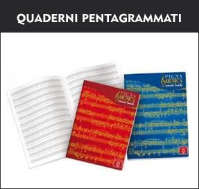 quaderni pentagrammati